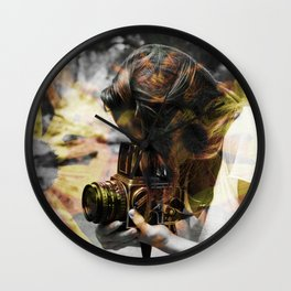 The Floral Photographer Wall Clock