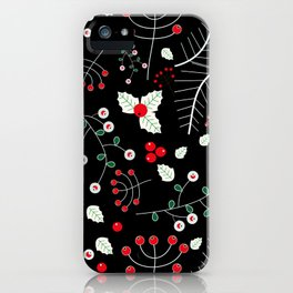 mistletoe black iPhone Case