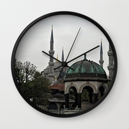 Blue Mosque Kiosk Monument, Istanbul Turkey Wall Clock