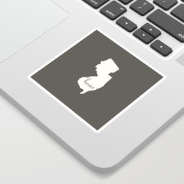 New Jersey is Home - White on Charcoal Sticker