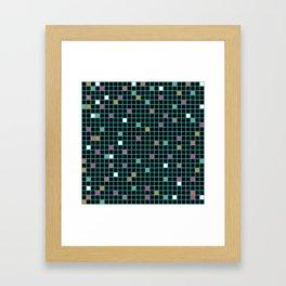 Grid Color Shift Framed Art Print