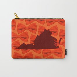 Virginia - VT Love - Orange Carry-All Pouch