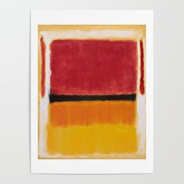1949 Untitled (Violet, Black, Orange, Yellow on White and Red) by Mark Rothko Poster