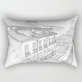 Medieval market Rectangular Pillow