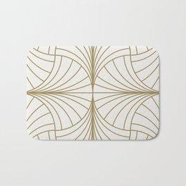 Diamond Series Inter Wave Gold on White Bath Mat