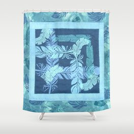 Feather Square Shower Curtain