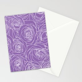 Amethyst Roses Stationery Cards