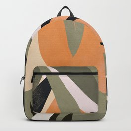Abstract Art Tropical Leaves 2 Backpack