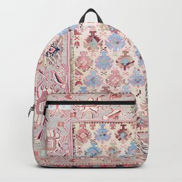 North Indian Dhurrie Kilim Print Backpack