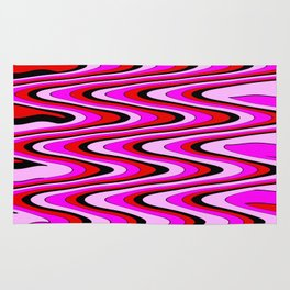 Monochromatic red slur Rug