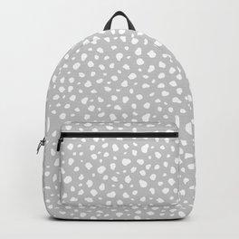 Grey Dalmatian Print Backpack