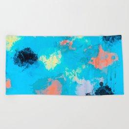 Abstract Paint splatter design Beach Towel