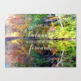 Live Life Forward Canvas Print