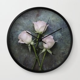 Three roses I Wall Clock