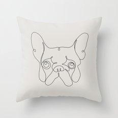 One Line French bulldog Throw Pillow