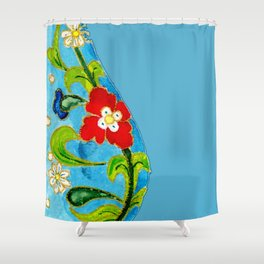 Genie Enamel Shower Curtain