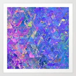 Mirror City Purple Art Print