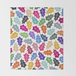 Colorful leaves II Throw Blanket