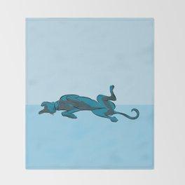 Roaching Greyhound Throw Blanket