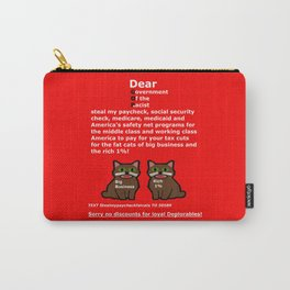Steal My Paycheck Fat Cats Carry-All Pouch