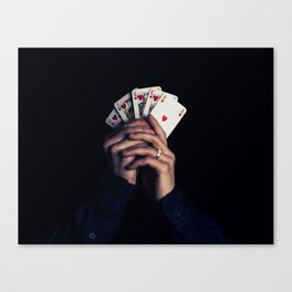 cards poker win Canvas Print