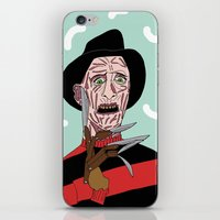 freddy krueger iPhone & iPod Skins featuring Freddy Krueger by Elena Éper