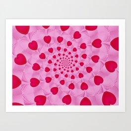 Fractal Art- Heart Art- Pink Heart- Red Heart Art- Popillol- Childrens Art-Love Art- Sacred Geometry Art Print