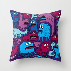 More Monsters Throw Pillow