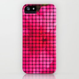 flowing flower pink iPhone Case