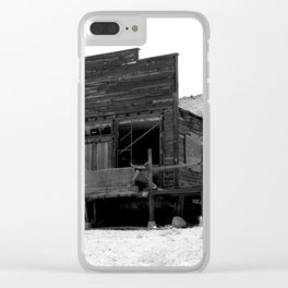 Old Butte Mining Camp in Randsburg, California Clear iPhone Case