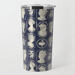 Blue Cameos Travel Mug