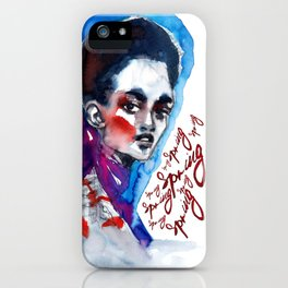 Spring time #fashionillustration iPhone Case