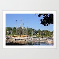 Camden Harbor, Maine Art Print