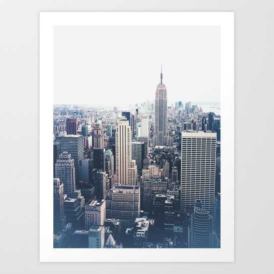 New York City and the Empire State Building Art Print