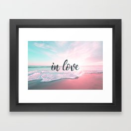 In Love on the beach Framed Art Print