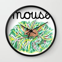 theatre Wall Clocks featuring Theatre Mouse by Rebecca Rogers