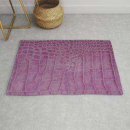 Croco leather effect - purple Rug