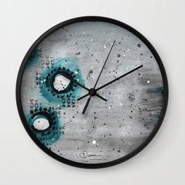 Charcoal Circles Left Wall Clock