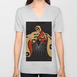 "Art Deco Illustration ""Masquerade"" Unisex V-Neck"