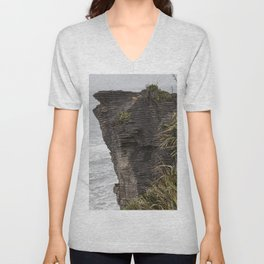 Pancake rocks New Zealand Unisex V-Neck