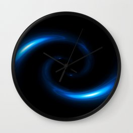 Blue Twirl Abstract Wall Clock