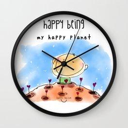 My Happy Planet Wall Clock