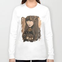 chocolate Long Sleeve T-shirts featuring Chocolate by Sheena Pike ART
