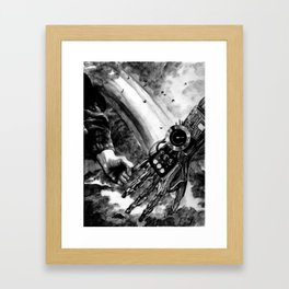 Robot Love Framed Art Print