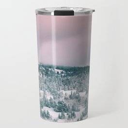 Blush Sky in Woodland Heights Travel Mug