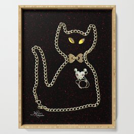 I Love Me Mouse! Cat and Mouse Jewelry Scanography Serving Tray