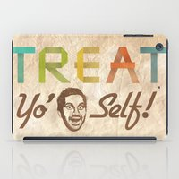 treat yo self iPad Cases featuring Treat Yo' Self by See No Evil