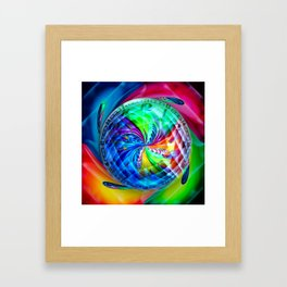 Abstract in perfection - Time s running Framed Art Print
