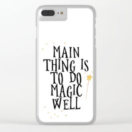 To do magic well Clear iPhone Case