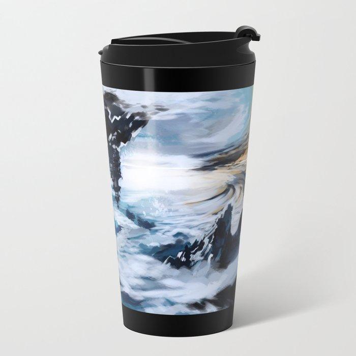 Concept Art Upside Down World Travel Mug